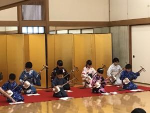 2017夏休み伝統文化 三味線